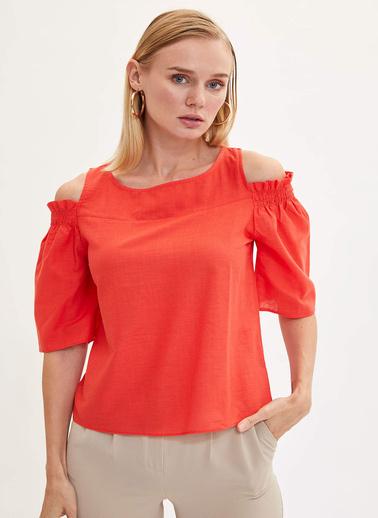 DeFacto Omuz Detaylı Bluz Kırmızı